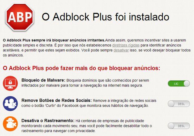 Bloqueio de Malware - Adblock Plus