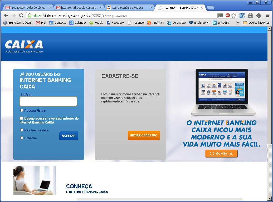 E-mail Falso CEF - Internet Banking Verdadeiro