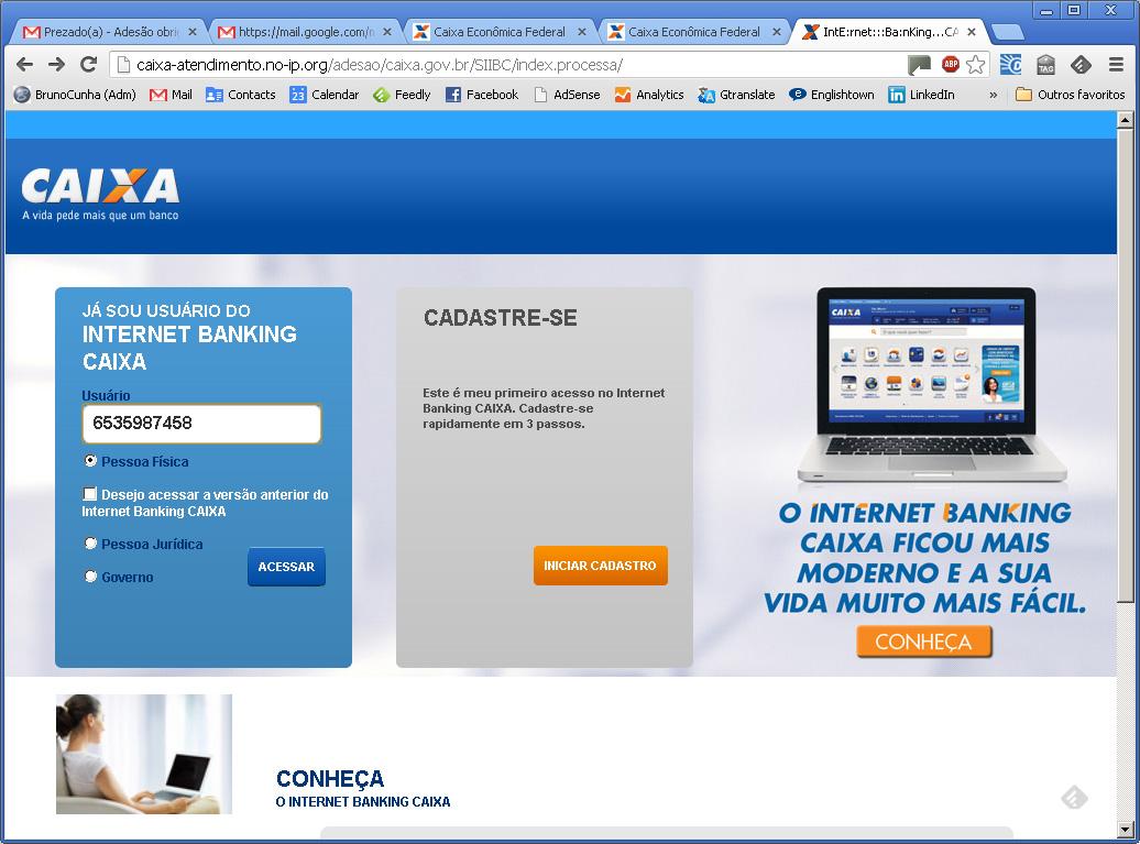 E-mail Falso CEF - Internet Banking Falso