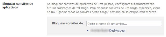 Facebook - Bloquear Convites de Usuários
