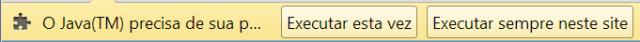 Java - Solicitação de Permissão para Execução