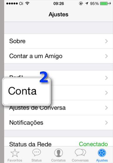 Bloquear Contatos WhatsApp - Conta