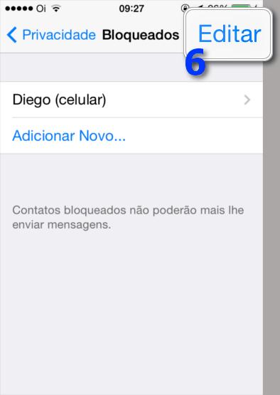 Bloquear Contatos WhatsApp - Editar