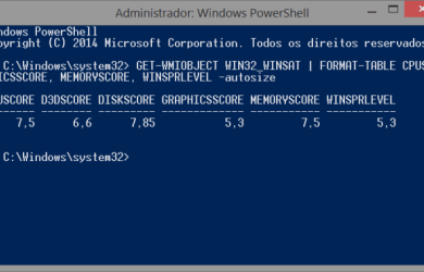 Experience Index results PowerShell